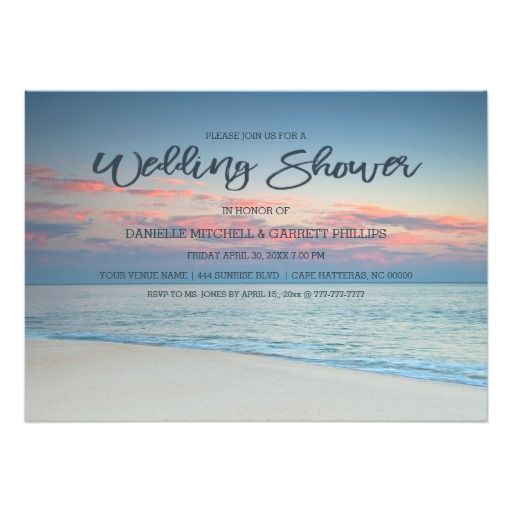 Tropical themed Bridal Shower Invitations