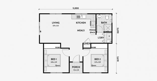 2 Bedroom Granny Flat 60m2 Klein Wonen Wonen Huis