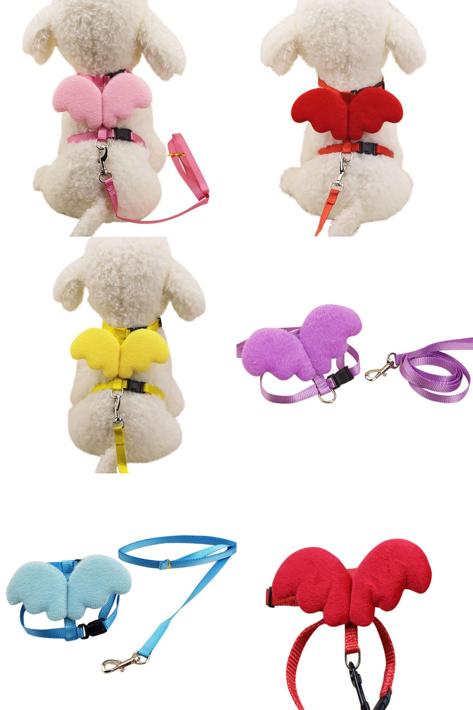 Visit to buy adjustable cute dog harness angel pet dog leashes and