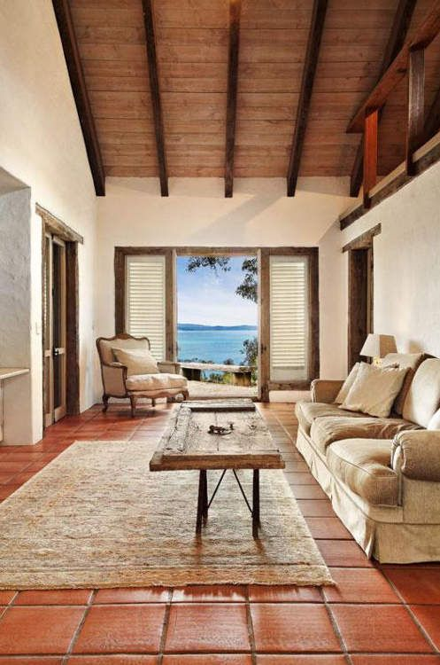 Saltillo tile looks perfect at the beach dreams of home for Apartment balcony floor covering