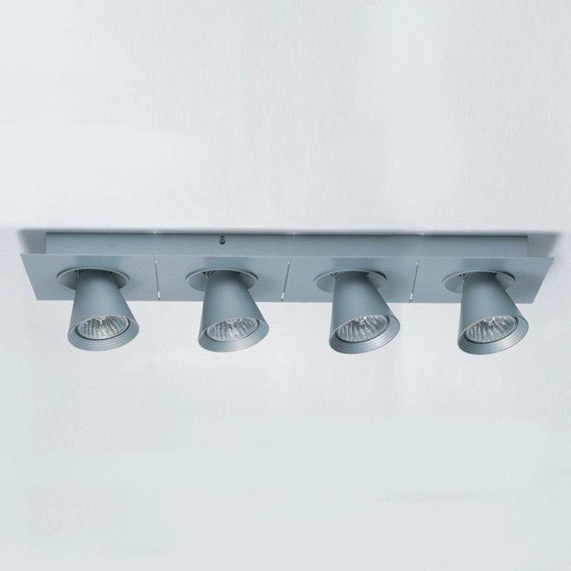 Circe Linear 4 Light Directional Amp Spotlight Ceiling