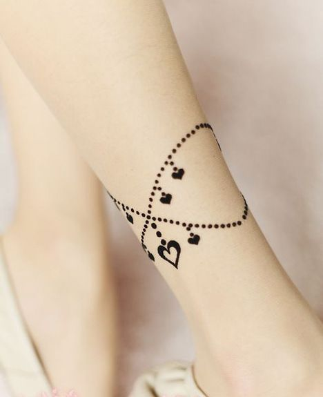 Pretty anklet tattoo  See more at:http://www.hot-‐lyts.com/ for more quotes  #tattoo #quotes