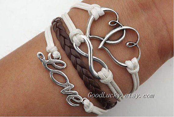 Telesthesia Lovers Bracelet fashion silver 8 infinity by goodlucky, $9.99