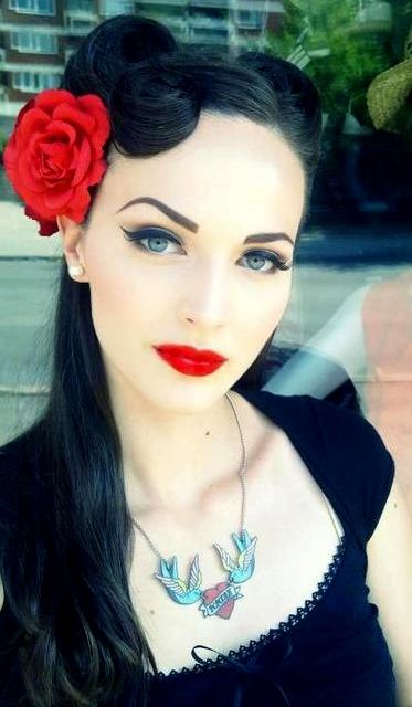 Pin On Fun House Pinterest Rockabilly Pin Up And Rockabilly Hair