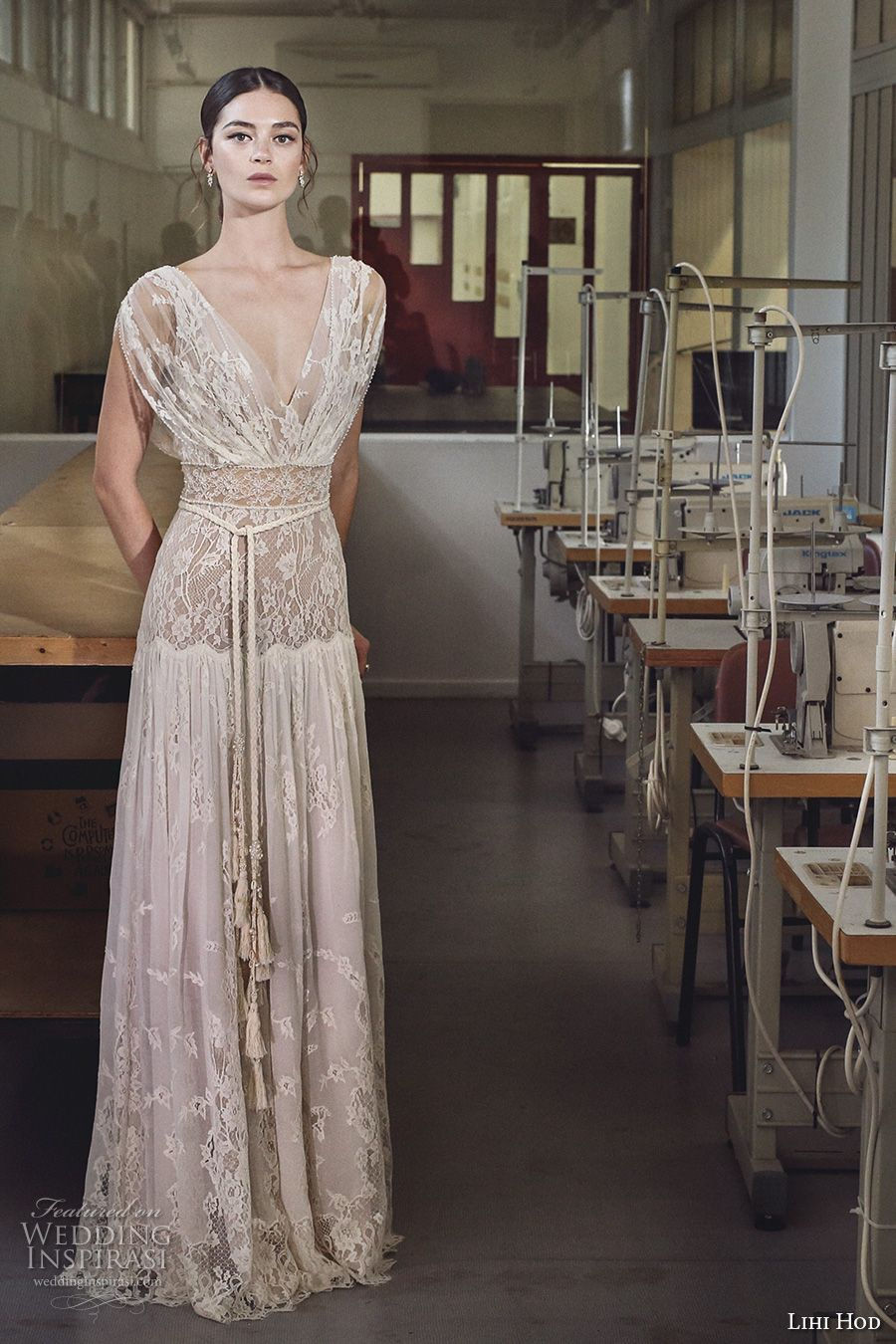 Lace cap sleeve a line wedding dress  Lihi Hod  Wedding Dresses u ucMaison des Rêvesud Bridal Collection