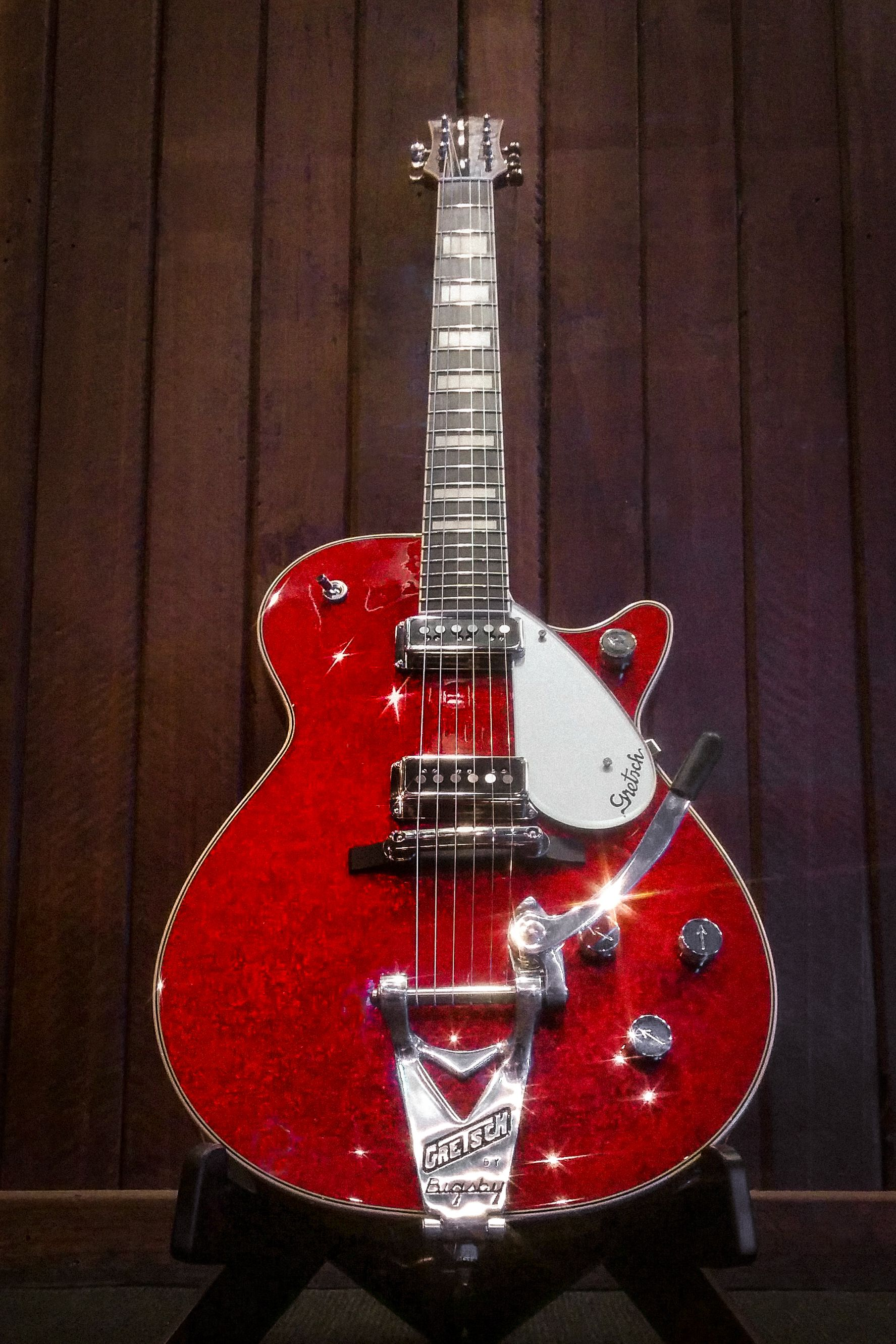 Gretsch G6129 with Red Sparkles and That Great Gretsch Sound. #gretsch #gretschguitars #guitar #electricguitar #thatgreatgretschsound #duojet #gretschduojet #bigsby