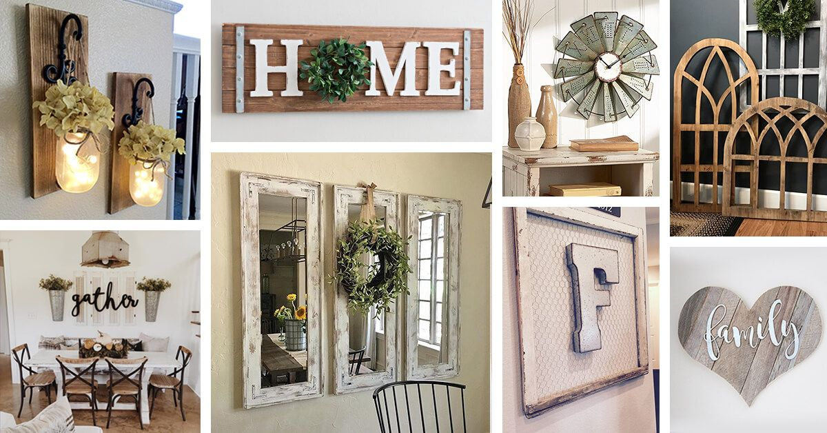 45+ Charming Farmhouse Wall Decor Ideas to Add Some Rustic