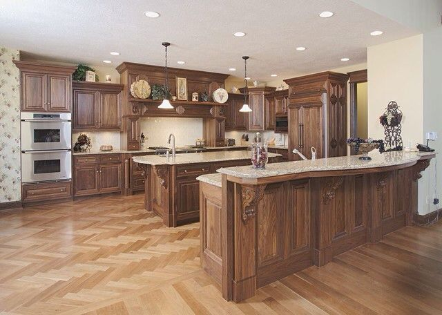 Color Palette Maple Floors With Walnut Cabinets Kitchen Remodel