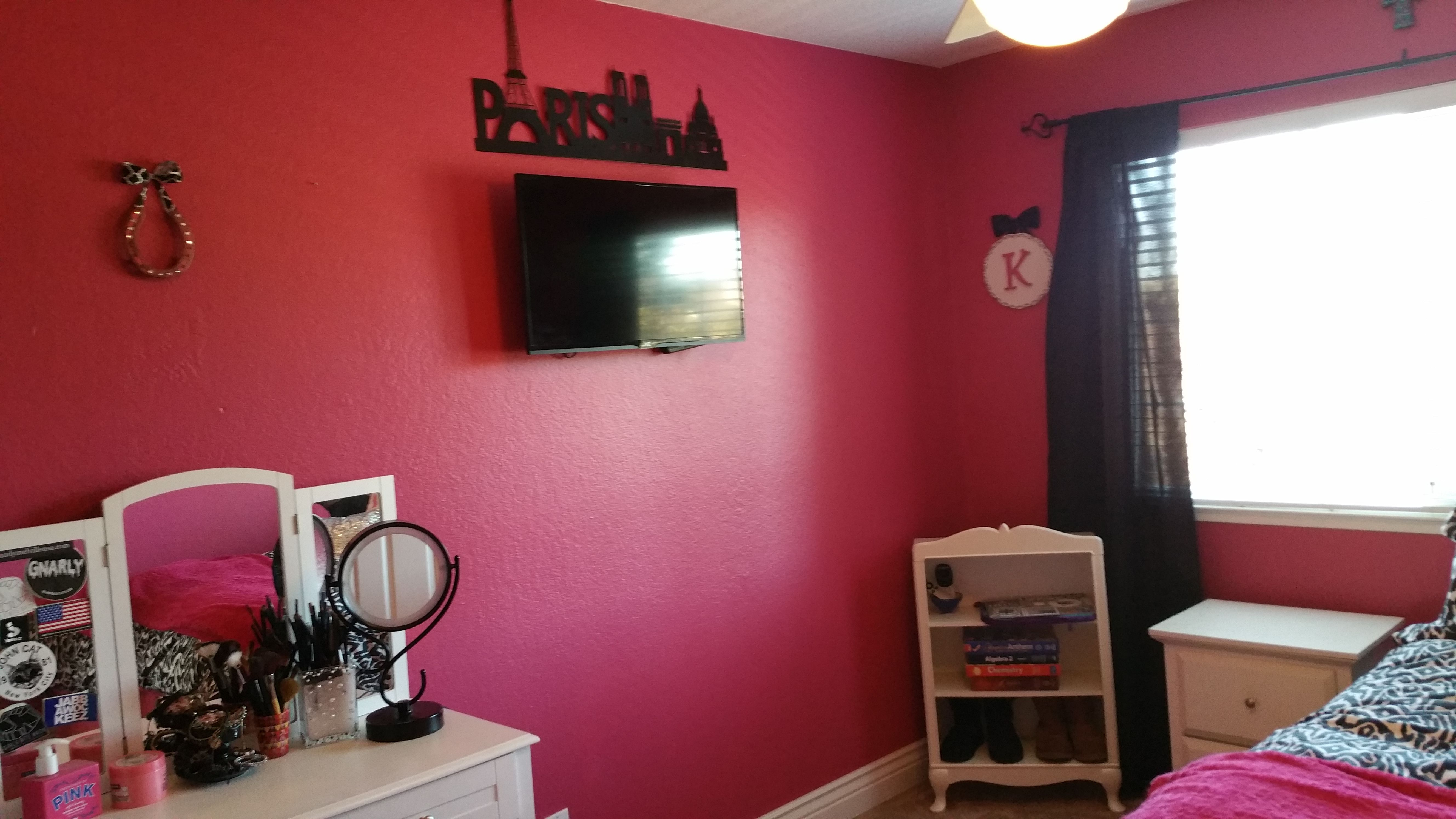 That is a PINK bedroom. How many coats of paint would you