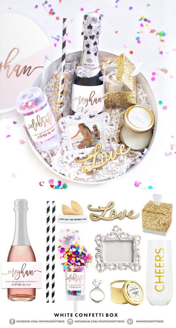 Bridesmaid Gift Box - Bridesmaid Box Set - Asking ...