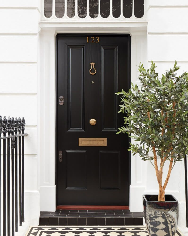 Black Georgian Front Door - London Door Company #victorianfrontdoors