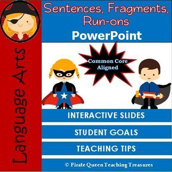 Fragments run ons sentences powerpoint ccss aligned 4th grade up this powerpoint defines what a sentence is and explains its parts subjects and predicates interactive slides require students to identify subjects and stopboris Image collections