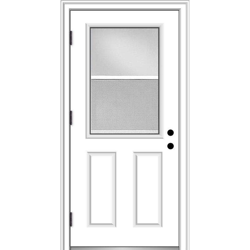Clear Glass Venting Half Lite Primed Fiberglass Prehung Front Entry Door Front Entry Doors Prehung Doors Steel Entry Doors