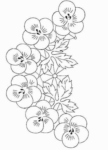 Dibujos De Flores Para Bordar Manteles