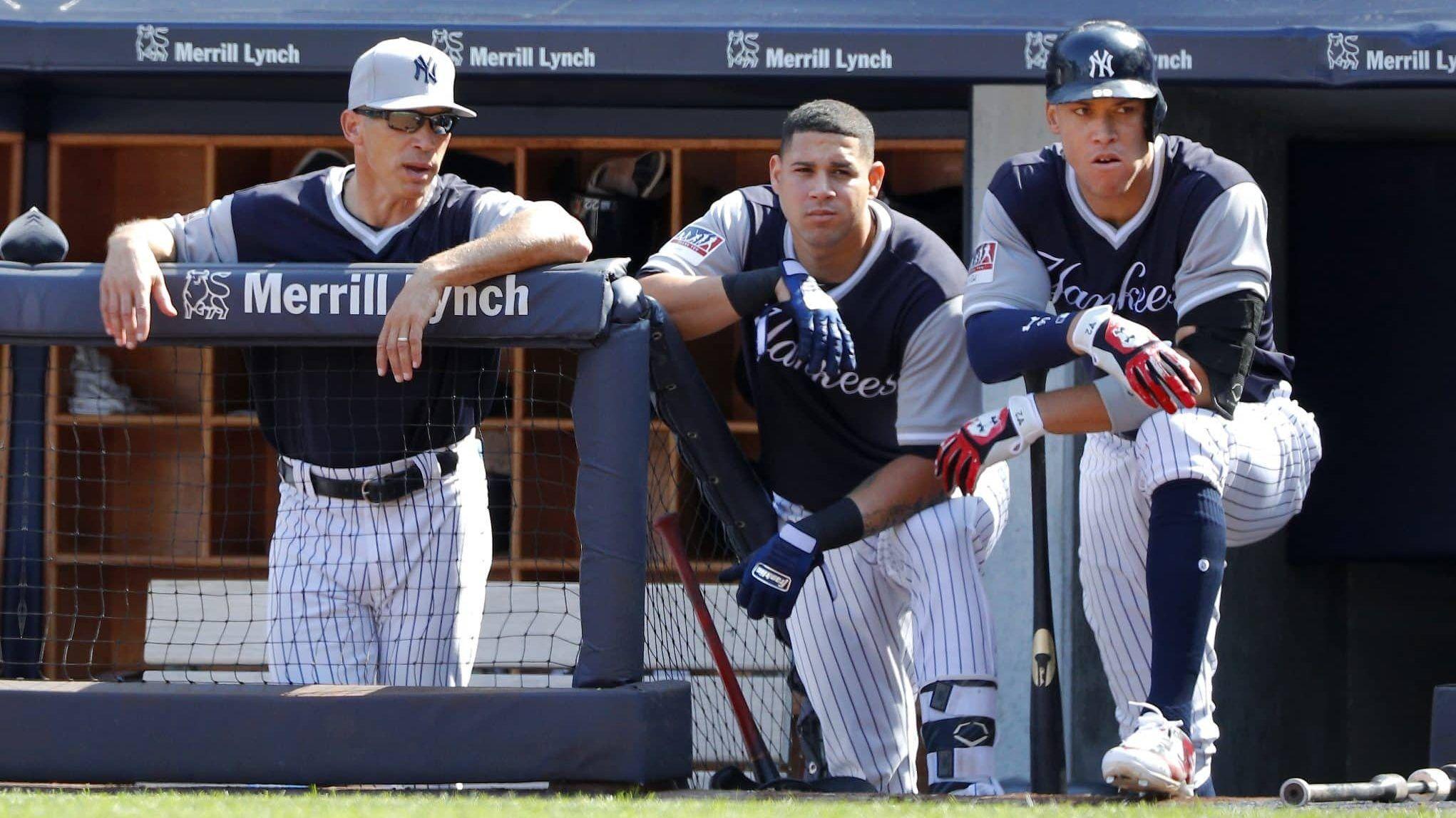 Former New York Yankees Skipper Joe Girardi Is Still Trying To Fix Gary Sanchez S Sometimes Mediocre Ways Behind The P Gary Sanchez New York Yankees Ny Yankees