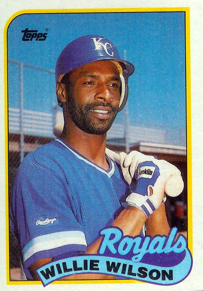 1989 Topps 168 Willie Wilson Kansas City Royals Baseball