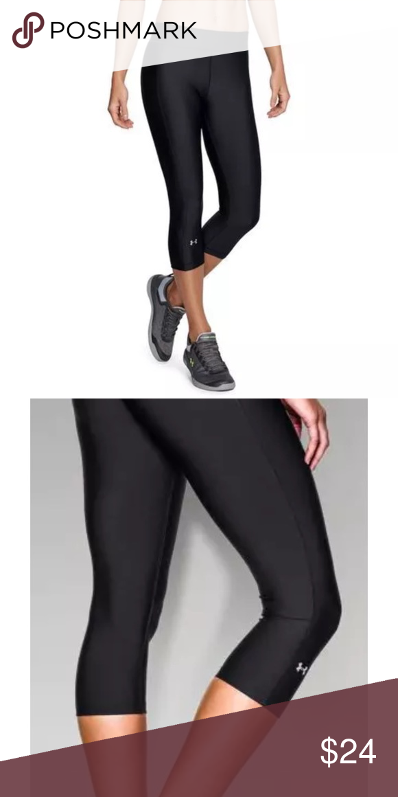 Nwt New Under Armour UA Compression Leggings Pants Fitted HeatGear Black Women