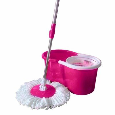 Ubesgoo 360 Spin Floor Mop And Bucket System Wayfair In 2020 Pink Tools Pink Kitchen Spin Mop