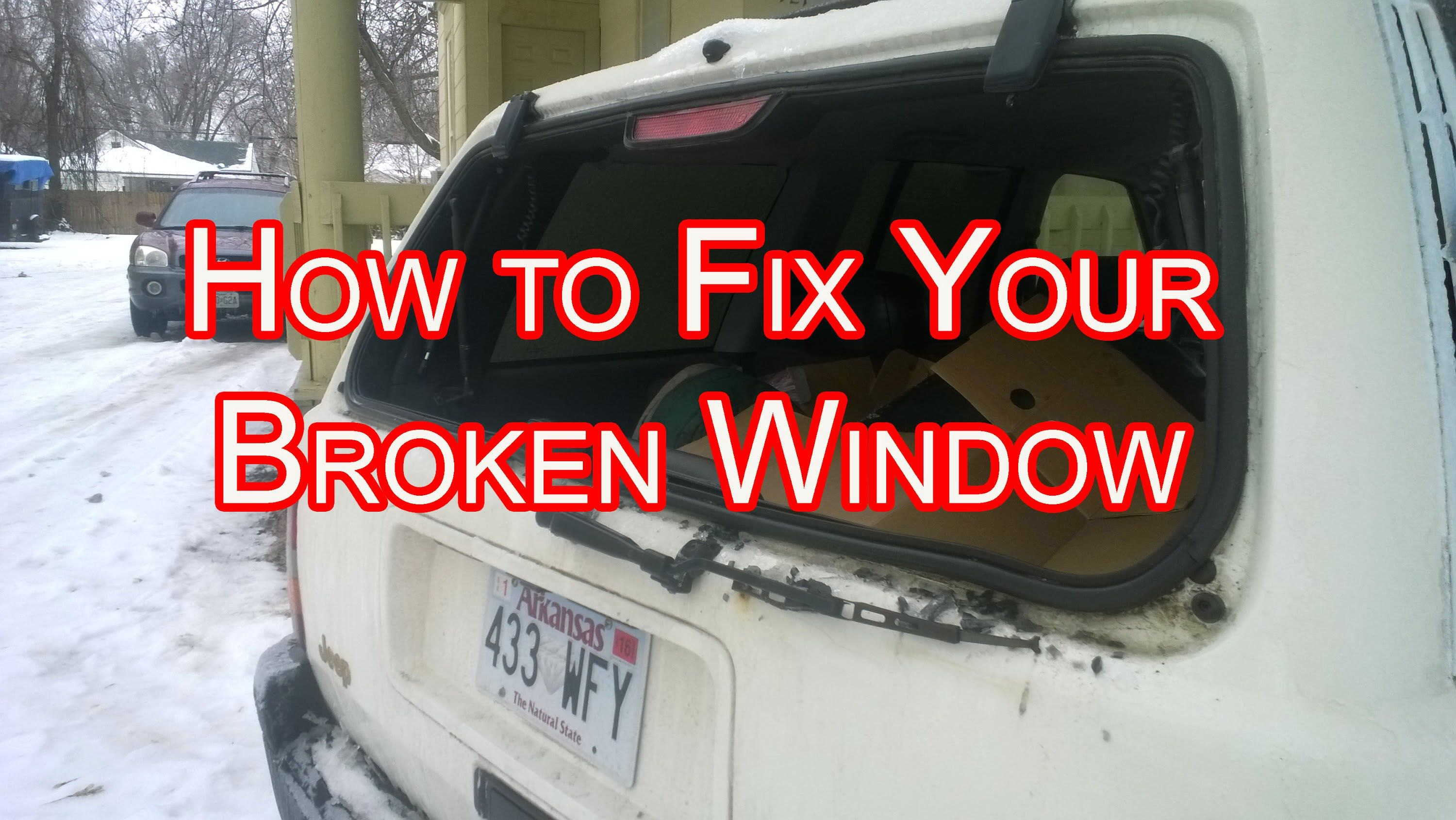 How To Replace A Rear Window On A Jeep Cherokee By Yourself Jeep