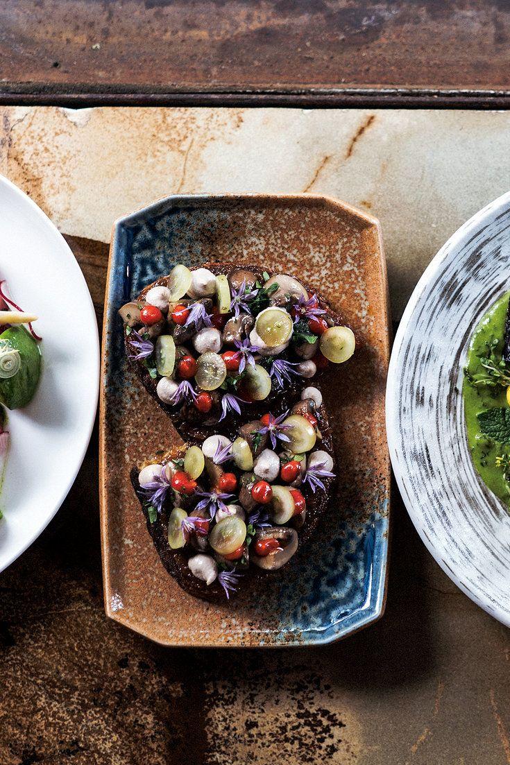 The Cremini Mushroom Toast At Avant Garden A Vegan