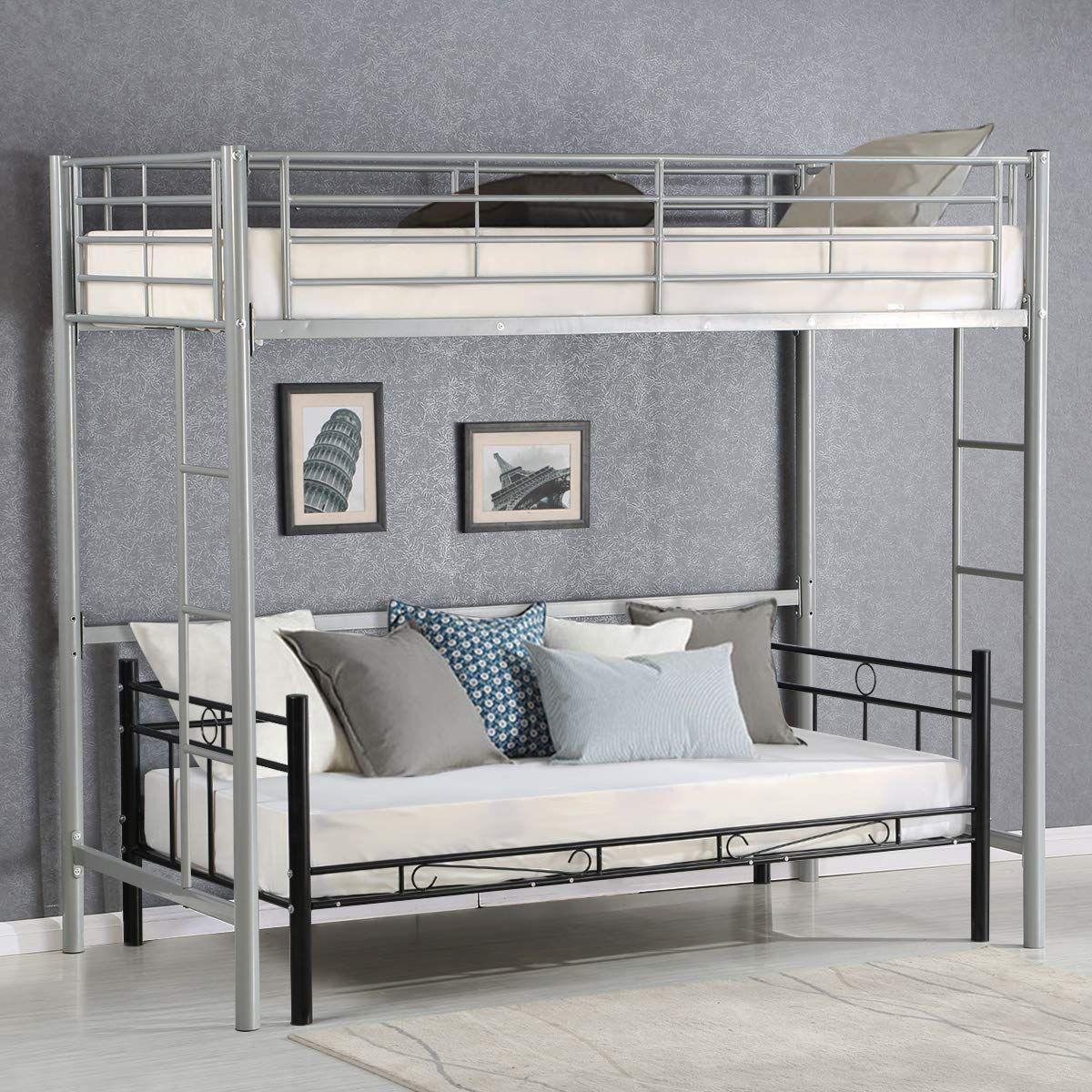 Best Amazon Com Costzon Twin Metal Loft Bed Metal Bunk Bed 400 x 300