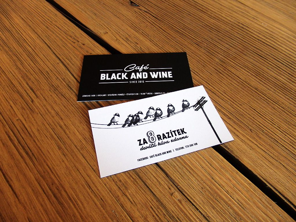 Coffee loyalty card of Café Black and Wine in Vrchlabí. Collect ...