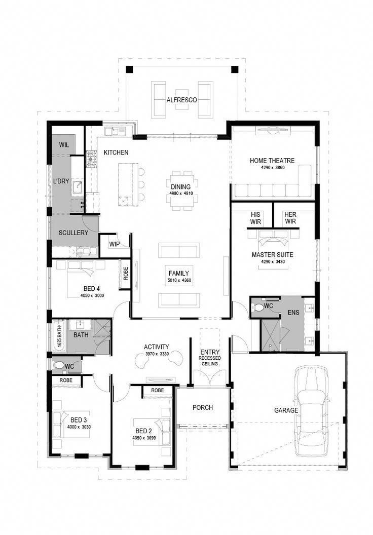 The Le Mans Home Design Commodore Homes House Plans I Would Make The Theater A Gathering Room Homedecor Floor Plans New House Plans Australian House Plans