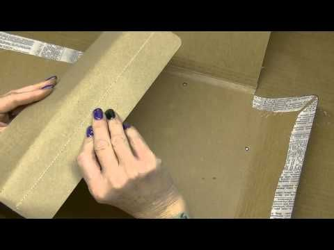Altering Tim Holtz Large Folio - More Stenciling, Starting Inside, Part 3 - YouTube