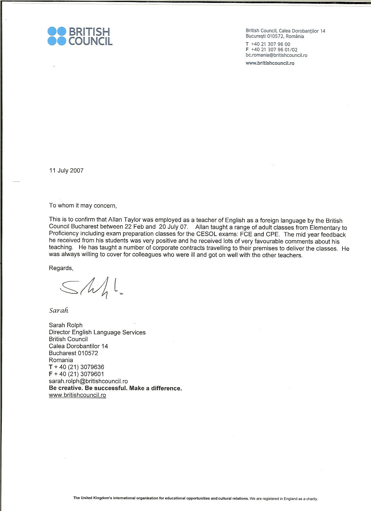 Recommendation Letter Sample For Teacher From Parent - http://www ...