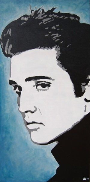 Elvis Acrylic On Canvas Hey I Painted That In 2019