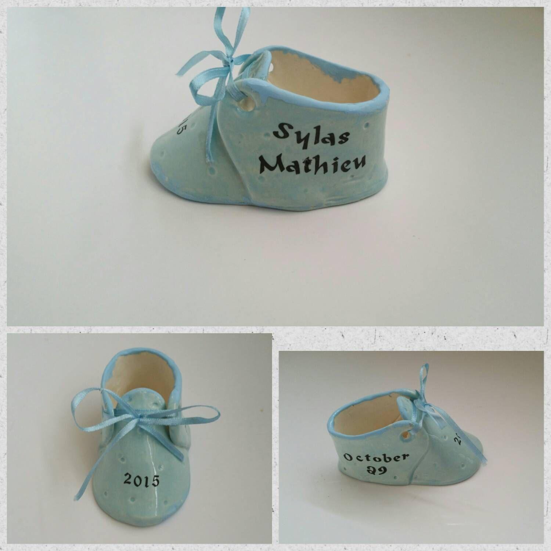 Personalized ceramic baby shoe custom baby shoe new baby gift personalized ceramic baby shoe custom baby shoe new baby gift pinned by negle Gallery