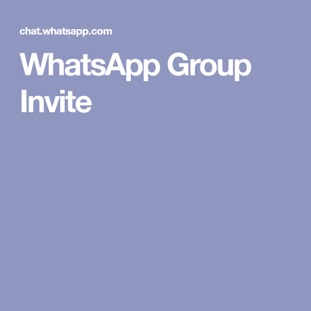 WhatsApp Group Invite Whatsapp group, Invitations, Group