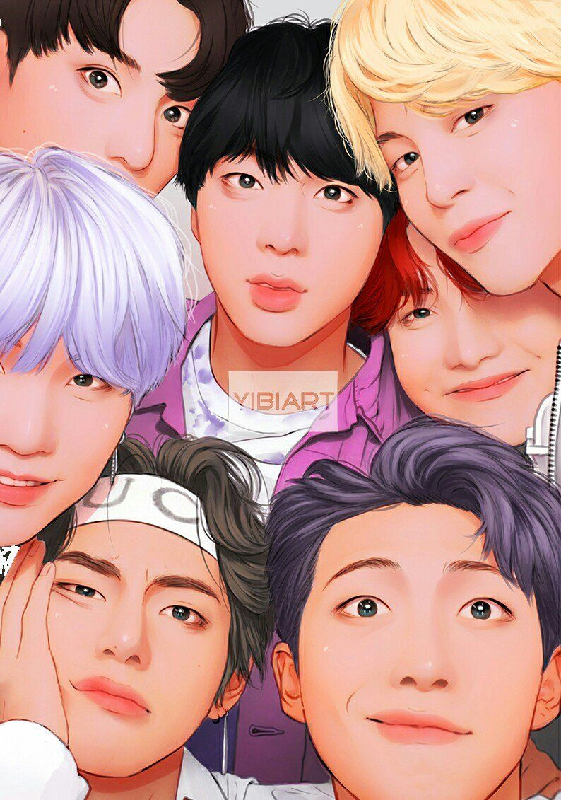 By yibiart on instagram Bts fanart, Bts drawings, Bts