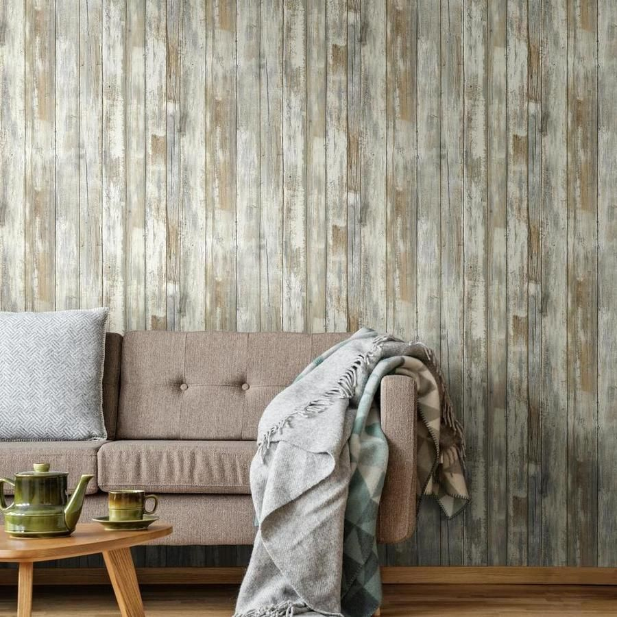 Distressed Wood Peel And Stick Wallpaper In 2021 How To Distress Wood Peel And Stick Wallpaper Distressed Wood Wallpaper