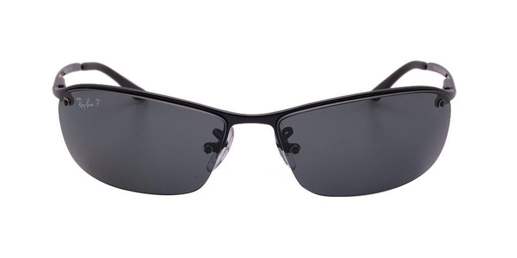 a5d860470aa RAY BAN RB3183 002 81 63 TOP BAR Black   Polarized Grey Gradient ...