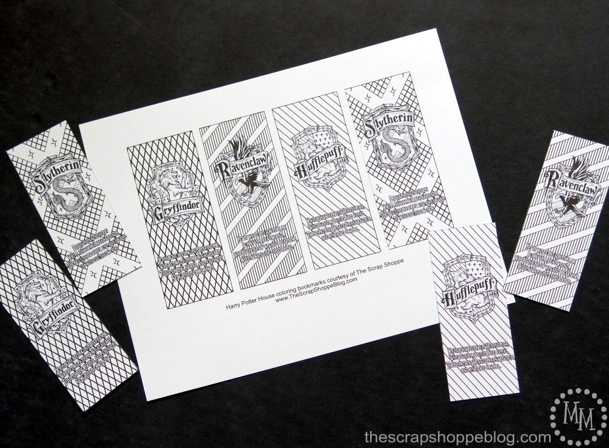 printable bookmarks harry potter black and white   printables and