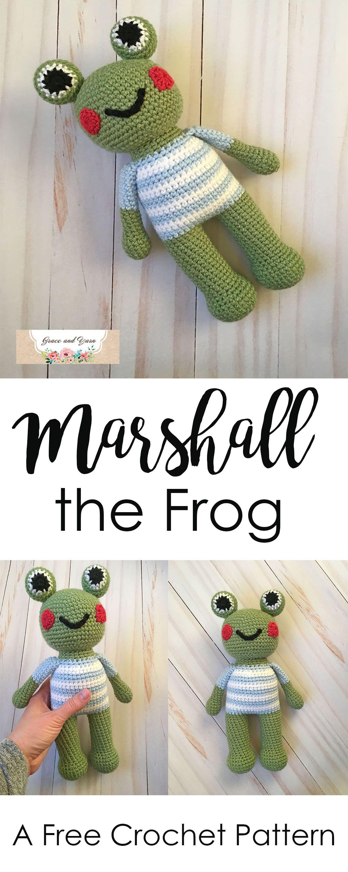 Marshall the Frog - A Free Crochet Pattern | Tejidos crochet y 2 ...