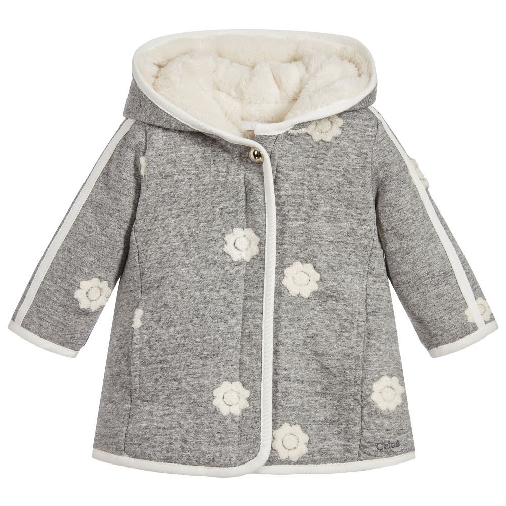 894a342df61b Baby Girls Jersey Coat for Girl by Chloé. Discover more beautiful ...