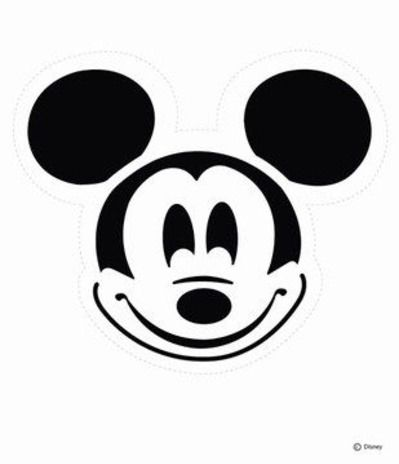Mickey Mouse Pumpkin Carving Pattern (or stencils for t-shirts ...