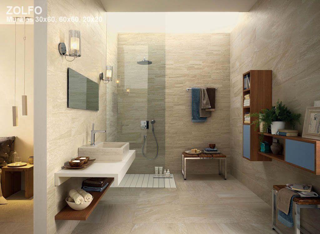 Keramische kalksteenlook tegels toegepast in de badkamer (tegels, 21 ...