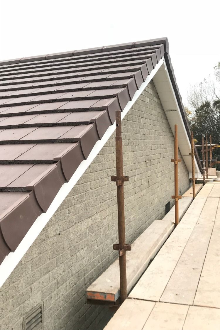 Dublin Roofers Removed All The Old Roof Tiles Felt And Timber Battens We Then Installed New Breathable Membrane Timber Battens And A New Brow Metall