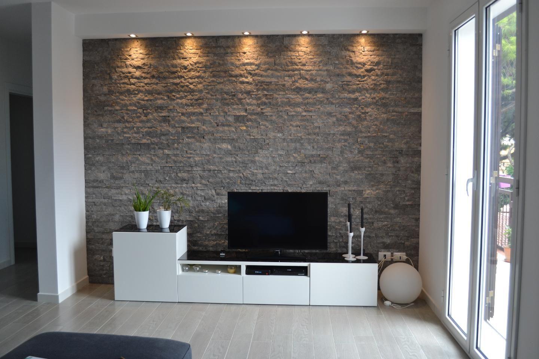Parete in pietra  CosediCasa // HomeIspiration  Pinterest  Living rooms, Interiors and Salons