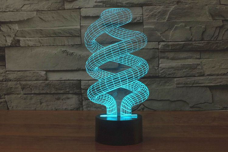 7 Colors 3d Optical Illusion Spiral Bulbing Led Night Light Space Lamp From Balloonsale Us Night Light Lamp Visual Illusion Night Light