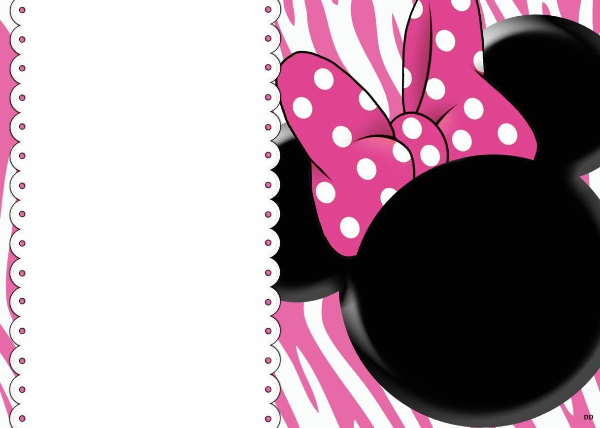 Free Blank Invites Minnie Mouse