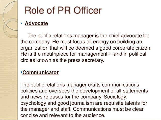 pr manager job description