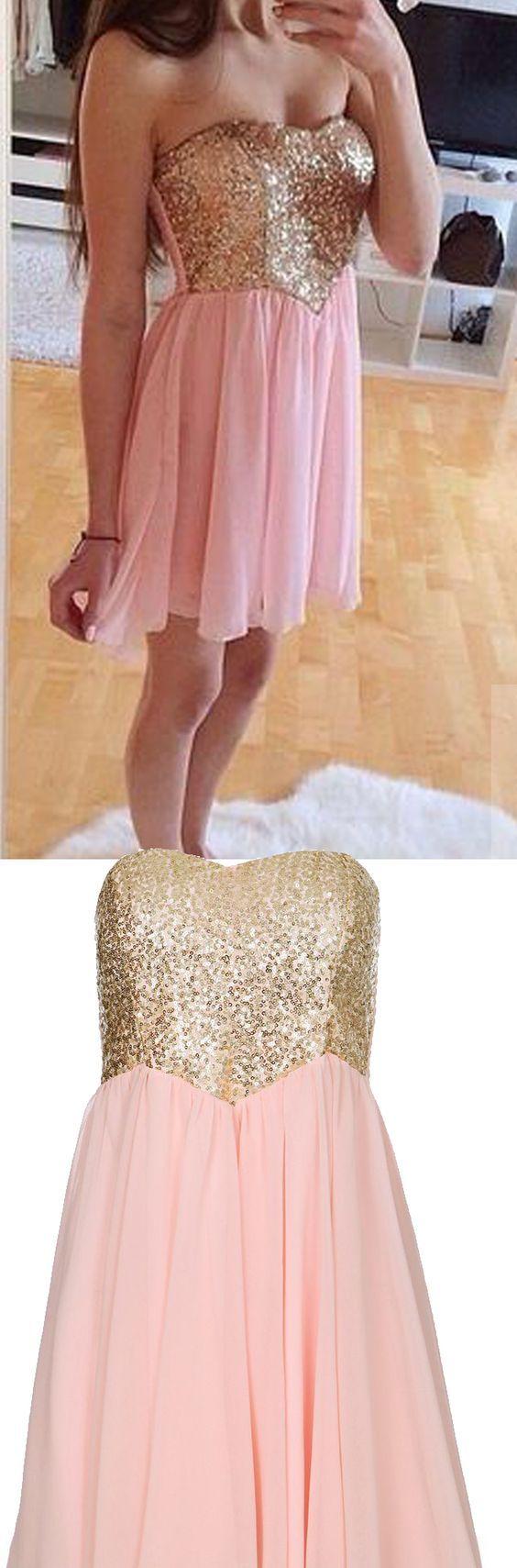 Homecoming Dresses Short Prom Dresses,Pink Homecoming Dresses ...