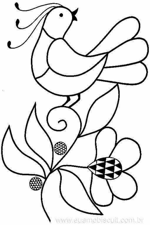 Pájaro | DIY | Pinterest | Bordado, Bordado mexicano patrones y ...