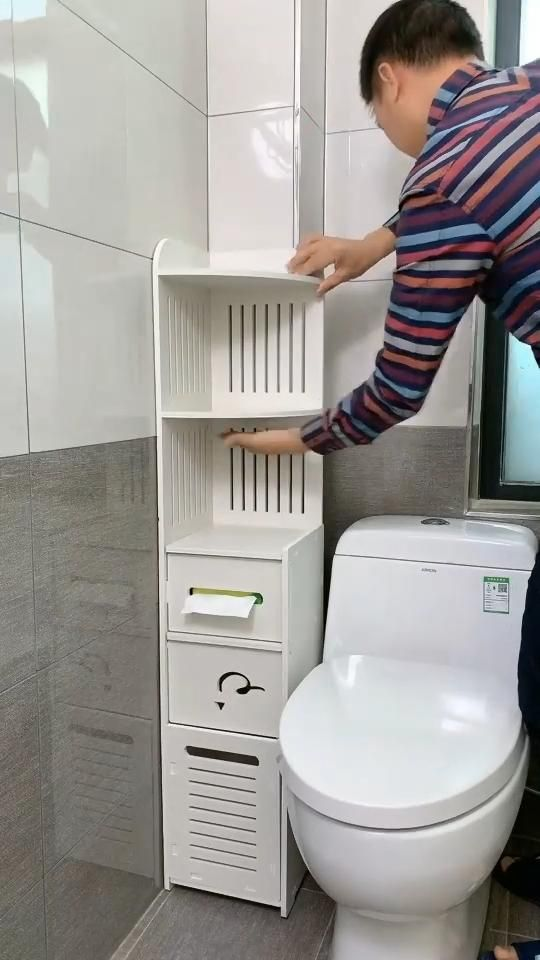 Thin Toilet Vanity Cabinet