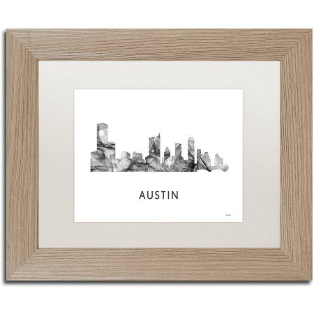 Trademark Fine Art \'Austin Texas Skyline WB-BW\' Canvas Art by ...