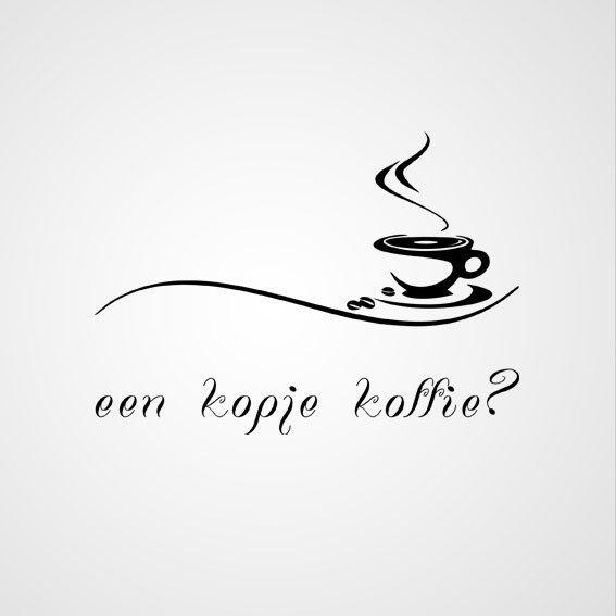 Een Kopje Koffie Koffie Koffie Kunstwerk En Koffie Logo